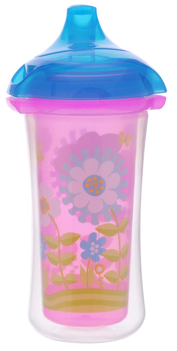 Munchkin Поильник-термочашка Click Lock от 9 месяцев цвет розовый синий 266 мл -  Поильники