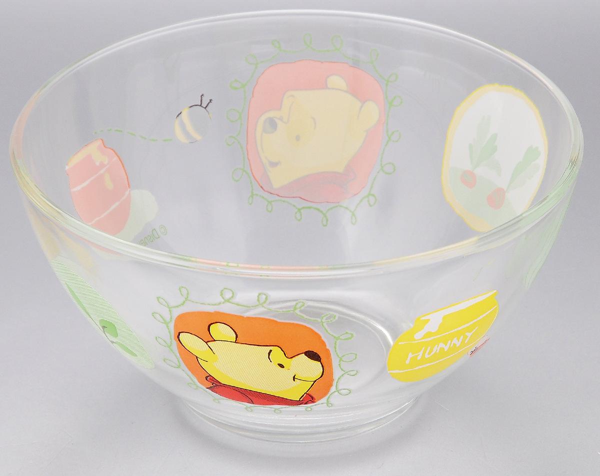 """Пиала Luminarc """"Winnie Garden"""" изготовлена из  ударопрочного стекла и оформлена ярким изображением.  Изделие прекрасно подойдет для салатов, супа или  мороженого. Благодаря оригинальному дизайну, такая  пиала понравится вашим детям. Она дополнит  коллекцию кухонной посуды и будет служить долгие  годы.  Объем пиалы: 500 мл.  Диаметр пиалы по верхнему краю: 13 см."""
