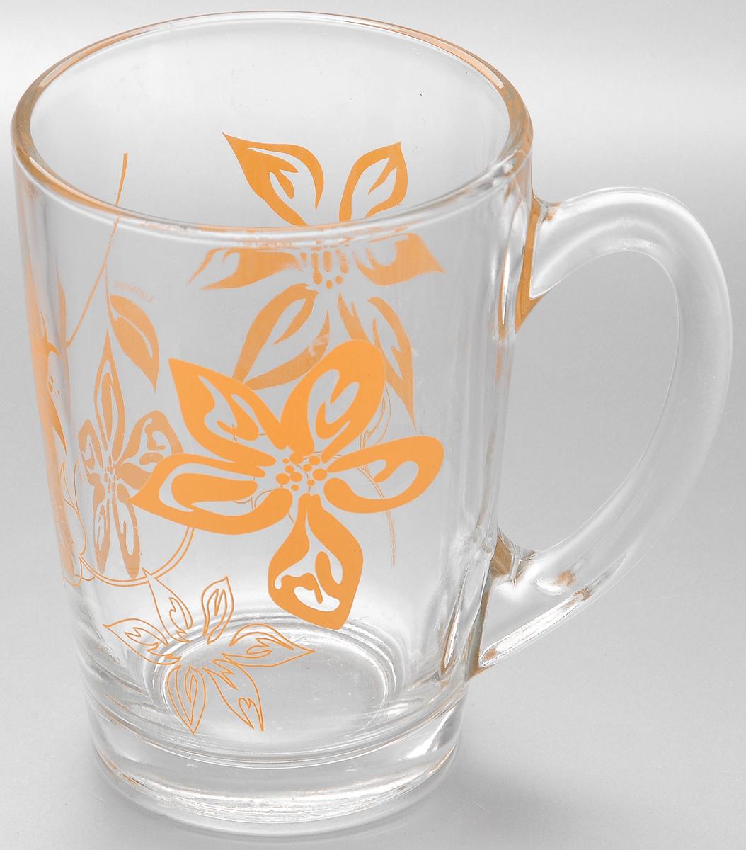 """Кружка Luminarc """"Lily Flower"""" изготовлена из упрочненного стекла. Такая кружка  прекрасно  подойдет для горячих и холодных напитков. Она дополнит коллекцию вашей  кухонной посуды и  будет служить долгие годы.  Диаметр кружки (по верхнему краю): 8 см."""
