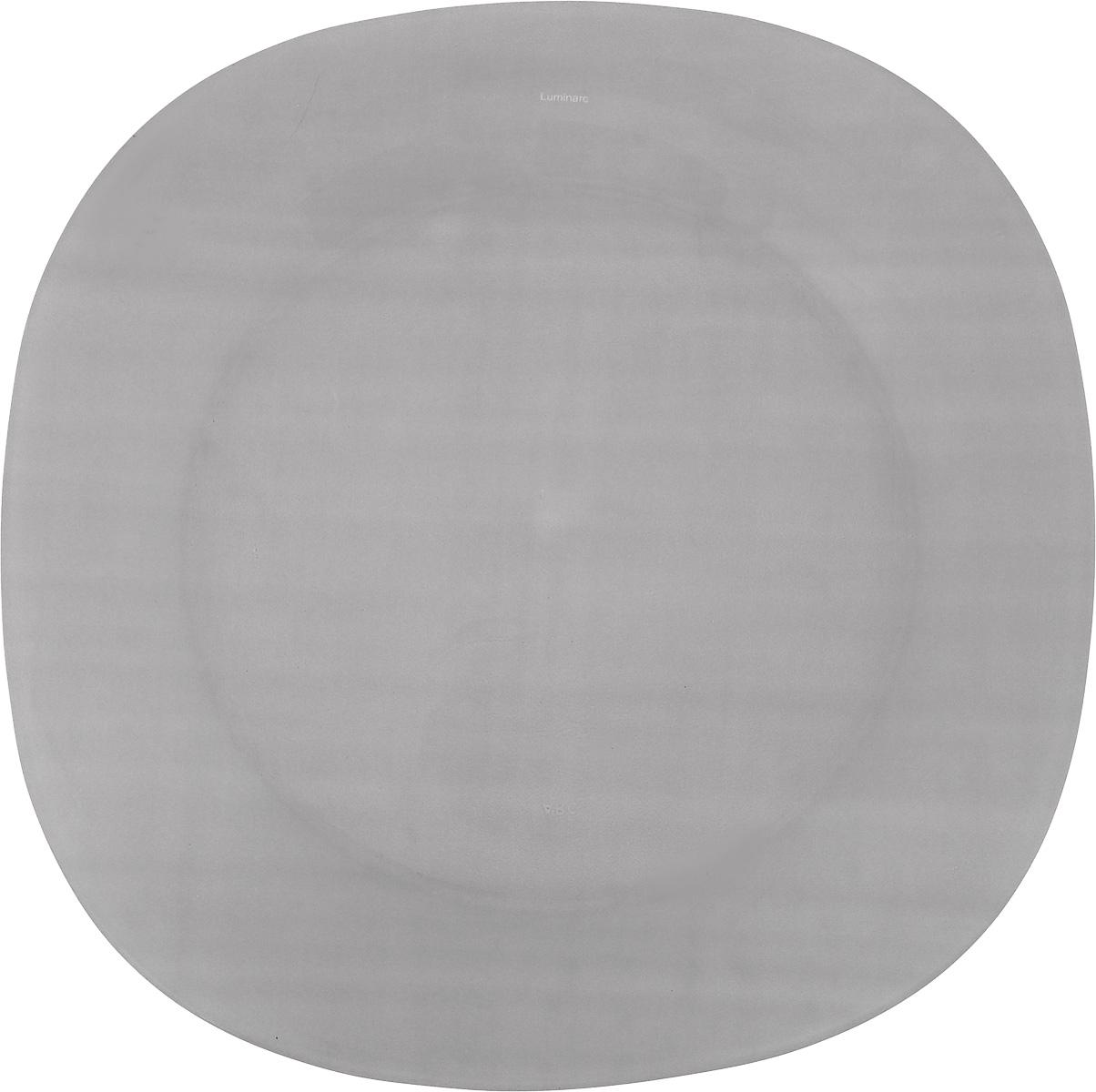 Тарелка обеденная Luminarc Colorama Grey, 25,5 х 25,5 смJ7776Обеденная тарелка Luminarc Colorama Grey, изготовленная из высококачественного стекла, имеет изысканный внешний вид. Яркий дизайн придется по вкусу и ценителям классики, и тем, кто предпочитает утонченность. Тарелка Luminarc Colorama Grey идеально подойдет для сервировки вторых блюд из птицы, рыбы, мяса или овощей, а также станет отличным подарком к любому празднику.Размер тарелки (по верхнему краю): 25,5 х 25,5 см.