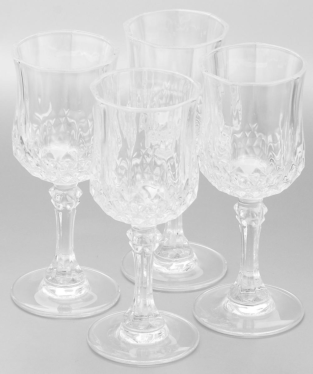 Набор рюмок Cristal d'Arques Longchamp, 60 мл, 4 шт бокалы cristal d arques