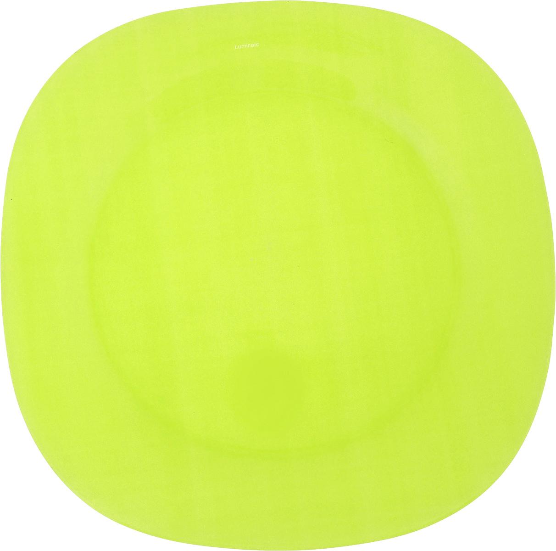 Тарелка обеденная Luminarc Colorama Green, 25,5 х 25,5 смJ7762Обеденная тарелка Luminarc Colorama Green, изготовленная из высококачественного стекла, имеет изысканный внешний вид. Яркий дизайн придется по вкусу и ценителям классики, и тем, кто предпочитает утонченность. Тарелка Luminarc Colorama Green идеально подойдет для сервировки вторых блюд из птицы, рыбы, мяса или овощей, а также станет отличным подарком к любому празднику.Размер тарелки (по верхнему краю): 25,5 х 25,5 см.