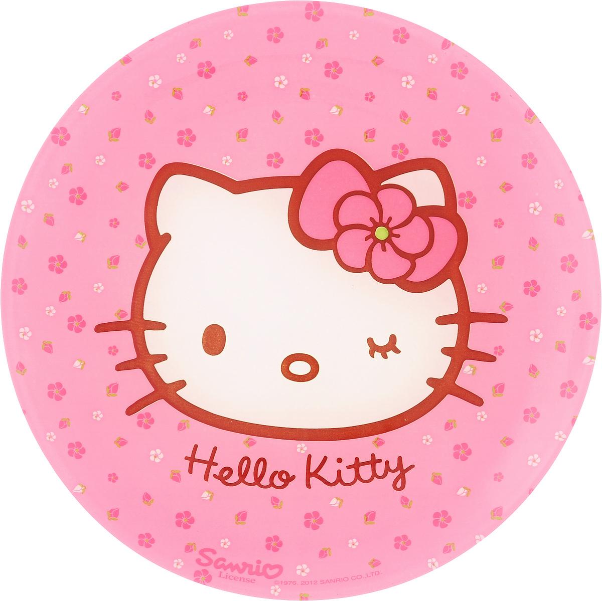 """Десертная тарелка Luminarc """"Hello Kitty. Sweet Pink"""",  изготовленная из ударопрочного стекла,  декорирована ярким рисунком.  Такая тарелка прекрасно подходит как для  торжественных случаев, так и для повседневного  использования.  Идеальна для подачи десертов, пирожных, тортов и  многого другого. Она прекрасно оформит стол и  станет  отличным дополнением к вашей коллекции  кухонной  посуды.  Диаметр тарелки (по верхнему краю): 20 см."""