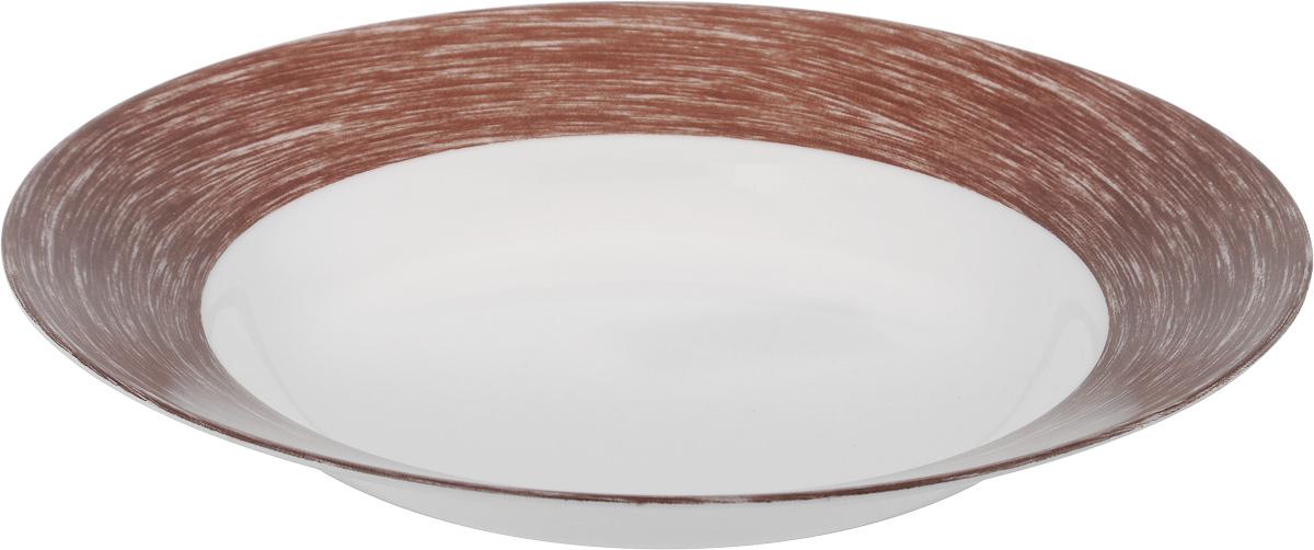 Тарелка глубокая Luminarc Color Days Chocolate, диаметр 22 смL1532Глубокая тарелка Luminarc Color Days Chocolate выполнена из ударопрочного стекла и имеет классическую круглую форму. Она прекрасно впишется в интерьер вашей кухни и станет достойным дополнением к кухонному инвентарю. Тарелка Luminarc Color Days Chocolate подчеркнет прекрасный вкус хозяйки и станет отличным подарком. Диаметр тарелки (по верхнему краю): 22 см.