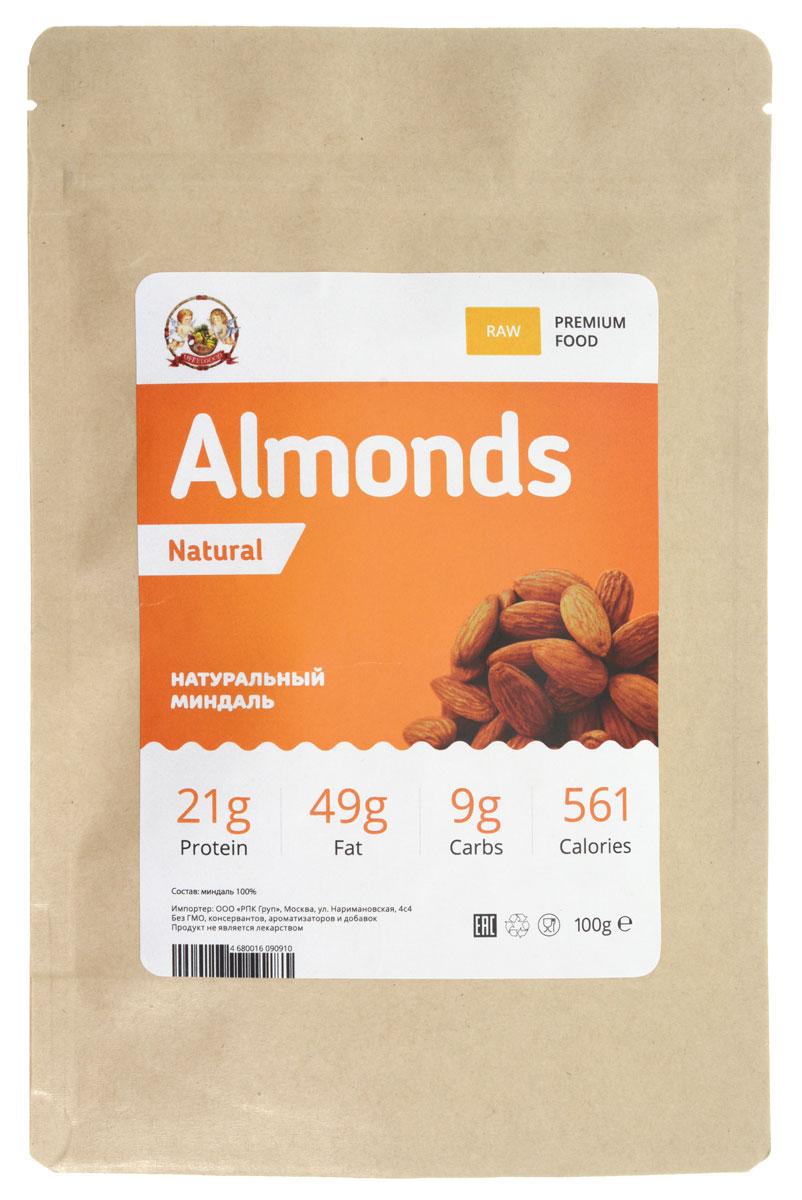 UFEELGOOD Almonds Natural натуральный орех миндаль, 100 г ягоды карелии земляника протертая с сахаром 280 гр