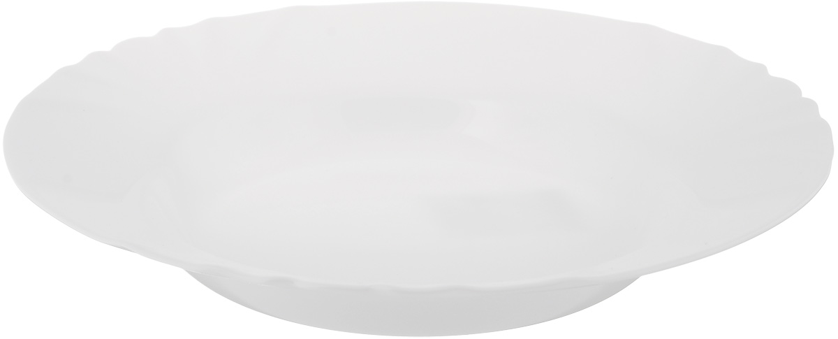 Тарелка глубокая Luminarc Cadix, диаметр 22,5 смJ6691Глубокая тарелка Luminarc Cadix выполненаиз ударопрочного стекла. Изделие сочетает в себе изысканный дизайн с максимальнойфункциональностью. Она прекрасно впишется винтерьер вашей кухни и станет достойным дополнениемк кухонному инвентарю.Тарелка Luminarc Cadix подчеркнетпрекрасный вкус хозяйки и станет отличным подарком. Диаметр тарелки по верхнему краю: 22,5 см.