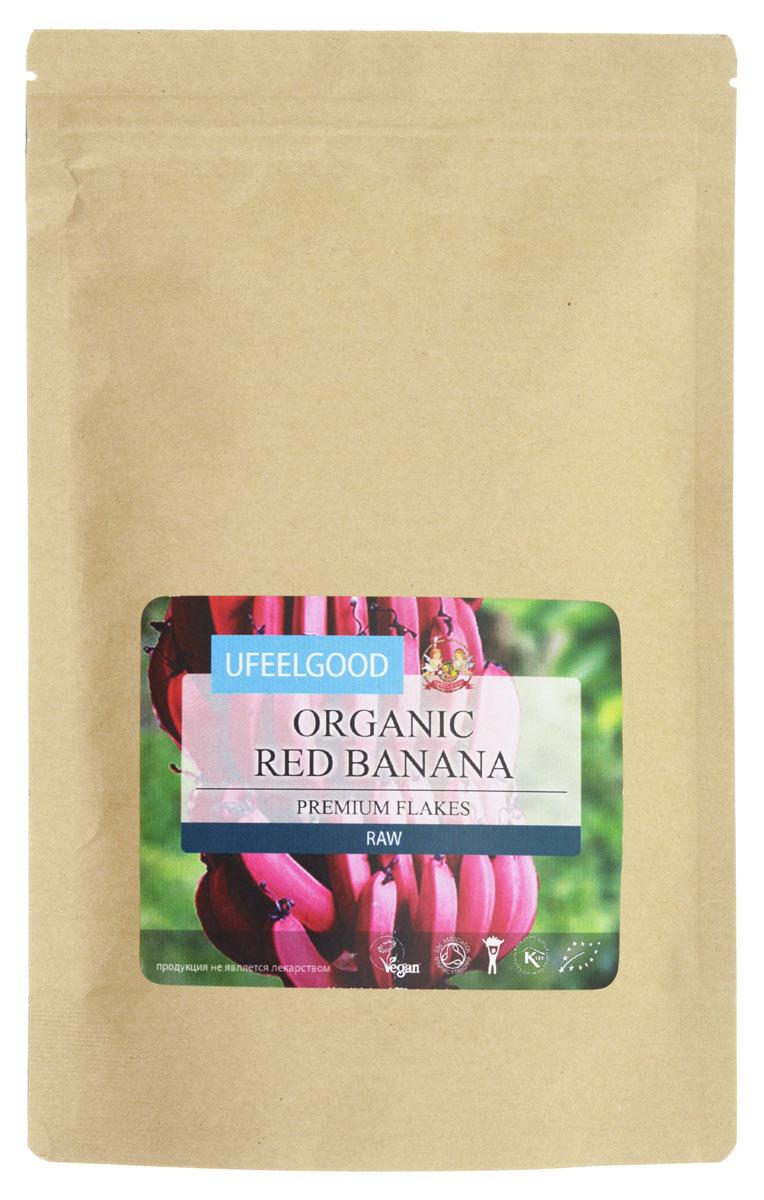 UFEELGOOD Organic Red Banana Flakes органический красный банан мелко молотый, 200 г65В недавнем научном исследовании было обнаружено, что красные бананы имеют самый высокий уровень бета-каротина по сравнению с другими сортами фруктов. Бета-каротин — красно-оранжевый пигмент, который превращается в организме в витамин А. Считается, что чем краснее банан, тем выше уровень бета-каротина и связанная с ним питательная ценность, а также имеющиеся антиоксидантные и рак-профилактические качества. Витамин А известен за его роль в поддержании здоровья глаз.Красные бананы рекомендуются как способ сокращения возрастной макулярной дегенерации, в то время как дальнейшие исследования свидетельствуют о потенциале бета-каротина для борьбы с болезнью Альцгеймера и слабоумием. Витамин А жизненно важен детям для обеспечения хорошего зрения, роста костей, сильной иммунной системы и здоровой кожи.Бананы считаются отличным способом восполнения дефицита витаминов,лечения анемии и часто являются первой твердой пищей, с которой знакомятся младенцы, благодаря легкости, с которой они перевариваются. Бананы действительно известны своей способностью лечить нарушения пищеварения благодаря их анти-ульцерогенным и антацидным свойствам. Их высокое содержание клетчатки способствует нормальной деятельности кишечника.Другой ключевой минерал, который содержится во всех бананах – калий.Он,как известно, снижает кровяное давление, защищает сердце, улучшает состояние мышц и баланс жидкости в организме. Исследования показали, что регулярное потребление бананов может уменьшить риск инсульта на 40%. Красные бананы UFEELGOOD содержат 1340 мг/100 г калия. Кроме того, они богаты витамином С, который имеет множество преимуществ, содействуя усвоению присутствующих минералов, особенно железа и кальция.Содержащие три природных сахара — сахарозу, глюкозу и фруктозу — красные бананы могут мгновенно обеспечить длительное повышение энергии. Более того, витамин В6, необходимый для производства антител и красных кровяных к