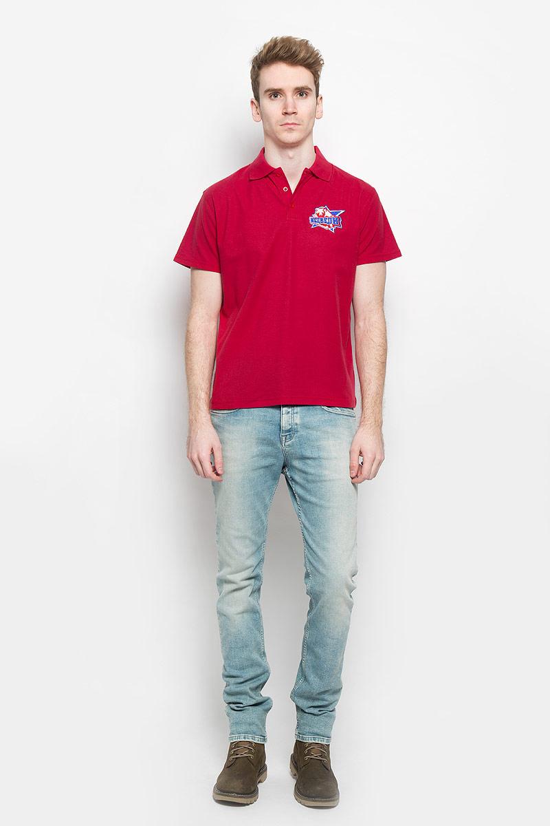цена Поло мужское Robin Ruth Молодежка, цвет: красный. PM003. Размер S (44/46) онлайн в 2017 году