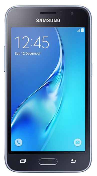 Samsung SM-J120F Galaxy J1 (2016), BlackSM-J120FZKDSERSamsung Samsung SM-J120F Galaxy J1 - это гармония стиля и функциональности. Закругленные края подчеркивают простой, но элегантный и современный дизайн, а толщина корпуса в 8,9 мм обеспечивает удобство в использовании!Яркие впечатления от просмотраЯркие впечатления от просмотра на 4,5 экране. Он отличается широкой палитрой воспроизводимых цветов. Благодаря обновленному дизайну экран выглядит шире, а воспроизводимые изображения очень реалистичны.Яркие и четкие фотографии:5-мегапиксельная основная камера с диафрагмой f/2.2 – гарантия отличных снимков.Емкий аккумулятор:Аккумулятор с емкостью 2050 мАч позволит оставаться на связи дольше обычного. Разрядился аккумулятор? Нет проблем! Режим максимального энергосбережения позволит продлить работу вашего смартфона.Повышенная производительность:4-ядерный 1,3 ГГц процессор и 1 ГБ оперативная память обеспечат мгновенную реакцию смартфона на любые ваши действия. Вы по достоинству оцените высокую скорость работы смартфона в приложениях.Удобное приложение Smart Manager:Приложение Smart Manager дает возможность управлять основными функциями и режимами вашего смартфона. Проверить состояние уровня заряда батареи, доступный объем памяти, использование оперативной памяти и степень защищенности вашего смартфона.Телефон сертифицирован Ростест и имеет русифицированный интерфейс меню, а также Руководство пользователя.Телефон для ребёнка: советы экспертов. Статья OZON Гид
