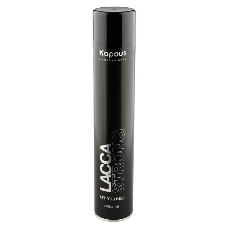 Kapous Professional Лак аэрозольный для волос сильной фиксации 500 мл kapous professional мусс для укладки волос нормальной фиксации 400 мл