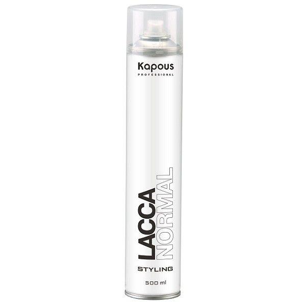 Kapous Professional Лак аэрозольный для волос нормальной фиксации 500 мл kapous лак аэрозольный для волос нормальной фиксации kapous styling lacca normal 100 мл