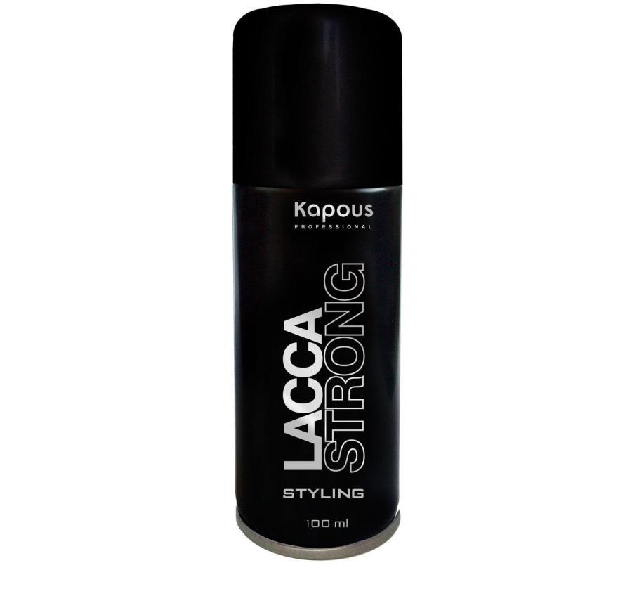 Kapous Professional Лак аэрозольный для волос сильной фиксации 100 мл лаки для волос sim sensitive лак для волос mega finish сильной фиксации 300мл