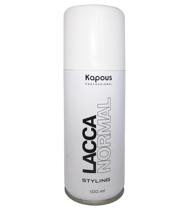 Kapous Professional Лак аэрозольный для волос нормальной фиксации 100 мл83Лак аэрозольный для волос нормальной фиксации Kapous. Экологический лак для волос нормальной фиксации гарантирует естественную фиксацию, надежно фиксируя сложные, объемные прически. Идеально подходит для создания подвижной и элестичной укладки вне зависимости от факторов окружающей среды. Благодаря уникальной формуле лак абсолютно сухой и не образует пленки на волосах. УФ-фильтр защищает волосы от вредного влияния окружающей среды. Удаляется с волос несколькими взмахами расчески. Экологичное мелкодисперсное распыление. Результат: Быстро высыхает на волосах, прекрасно фиксирует их и придает здоровый блеск.