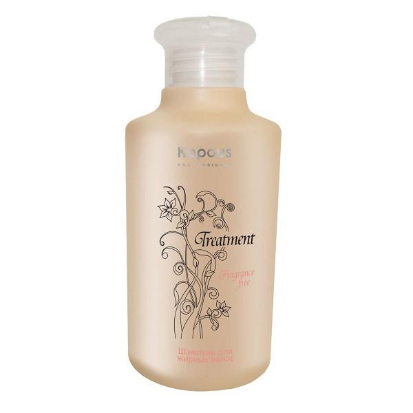 Kapous Treatment Шампунь для жирных волос 250 млKap297Шампунь для жирных волос Kapous серии Treatment - это эффективное косметическое средство, позволяющее бережно очищать кожу и волосы от загрязнений, устранять сальный блеск и восстанавливать работу сальных желез, обеспечивая надежный защитный и увлажняющий эффект. Входящий в состав Экстракт апельсина способствует регенерацииклеток, обладаетпротивовоспалительным действием, снижает активность сальных желез, тем самым замедляет засаливание волос, а так же содержит много питательных веществ, таких как кальций, фосфор, железо и калий. Витамин А, витамины семейства В и большое количество витамина С, содержащиеся в экстракте апельсина, возвращают волосам естественную влажность, эластичность и блеск, успокаивают кожу головы, обеспечивая рост здоровых волос. Активные растительные компоненты, обладающие вяжущими свойствами, нормализуют деятельность сальных желез и снижают производство себума. С первого же применения деятельность сальных желез нормализуется, волосы становятся легкими. Регулярное применение шампуня позволяет значительно улучшить состояние кожи головы и увеличить время между мытьем волос.