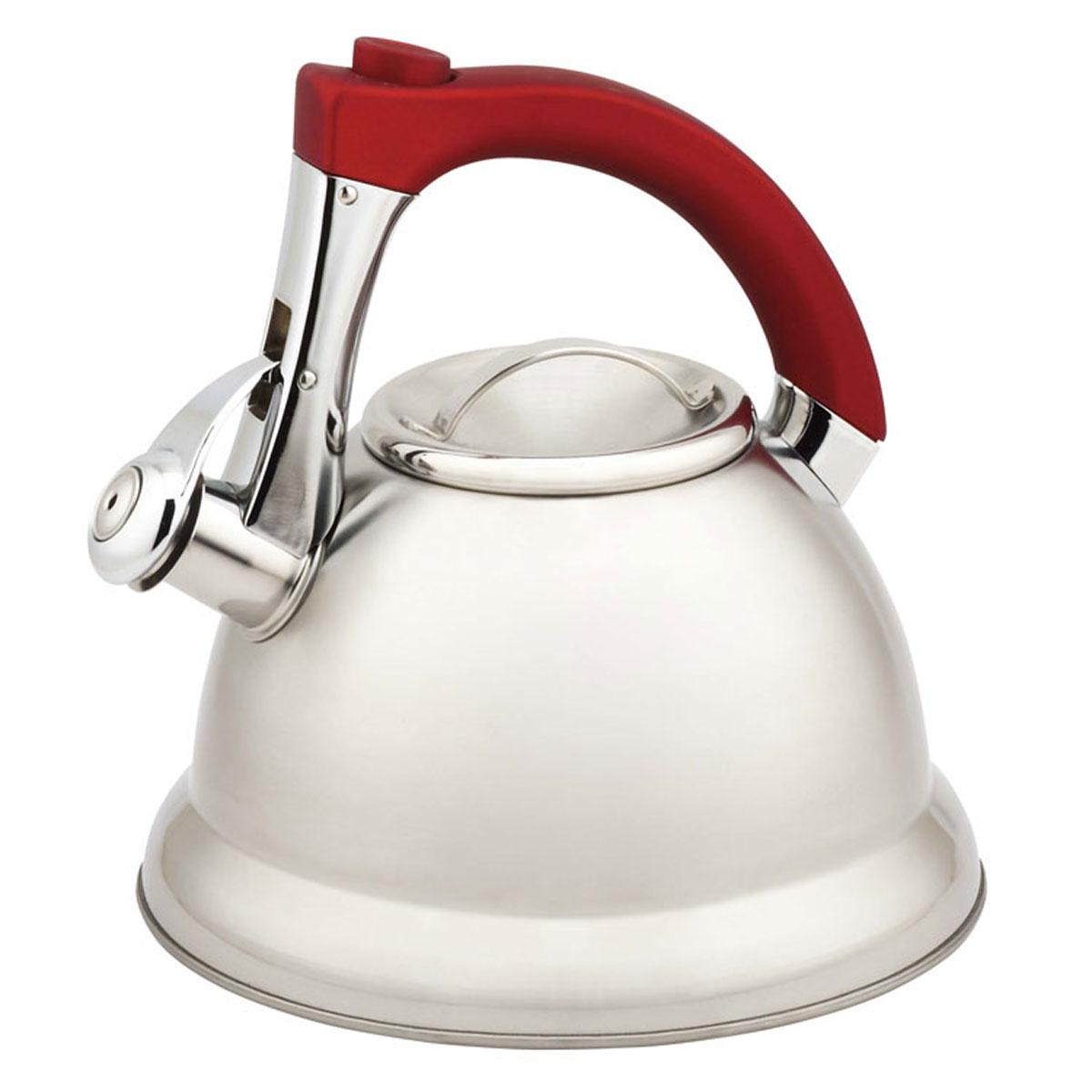 Чайник Mayer & Boch, со свистком, 3,7 л21422Чайник со свистком Mayer & Boch выполнен из долговечной и прочной нержавеющей стали, которая не окисляется и устойчива к коррозии. Изделие оснащено свистком, благодаря которому вы можете не беспокоиться о том, что закипевшая вода зальет плиту. Как только вода закипит - свисток оповестит Вас об этом. Капсулированное дно с прослойкой из алюминия обеспечивает наилучшее распределение тепла. Ручка чайника изготовлена из специального теплоустойчивого материала - бакелита, который не обжигает руки. Удобный и практичный чайник отлично впишется в интерьер любой кухни.Чайник подходит для использования на всех типах плит, включая индукционные. Можно мыть в посудомоечной машине.Высота стенок чайника: 13,5 см.Общая высота чайника: 24 см.Диаметр дна чайника: 22 см.Объем чайника: 3,7 л.