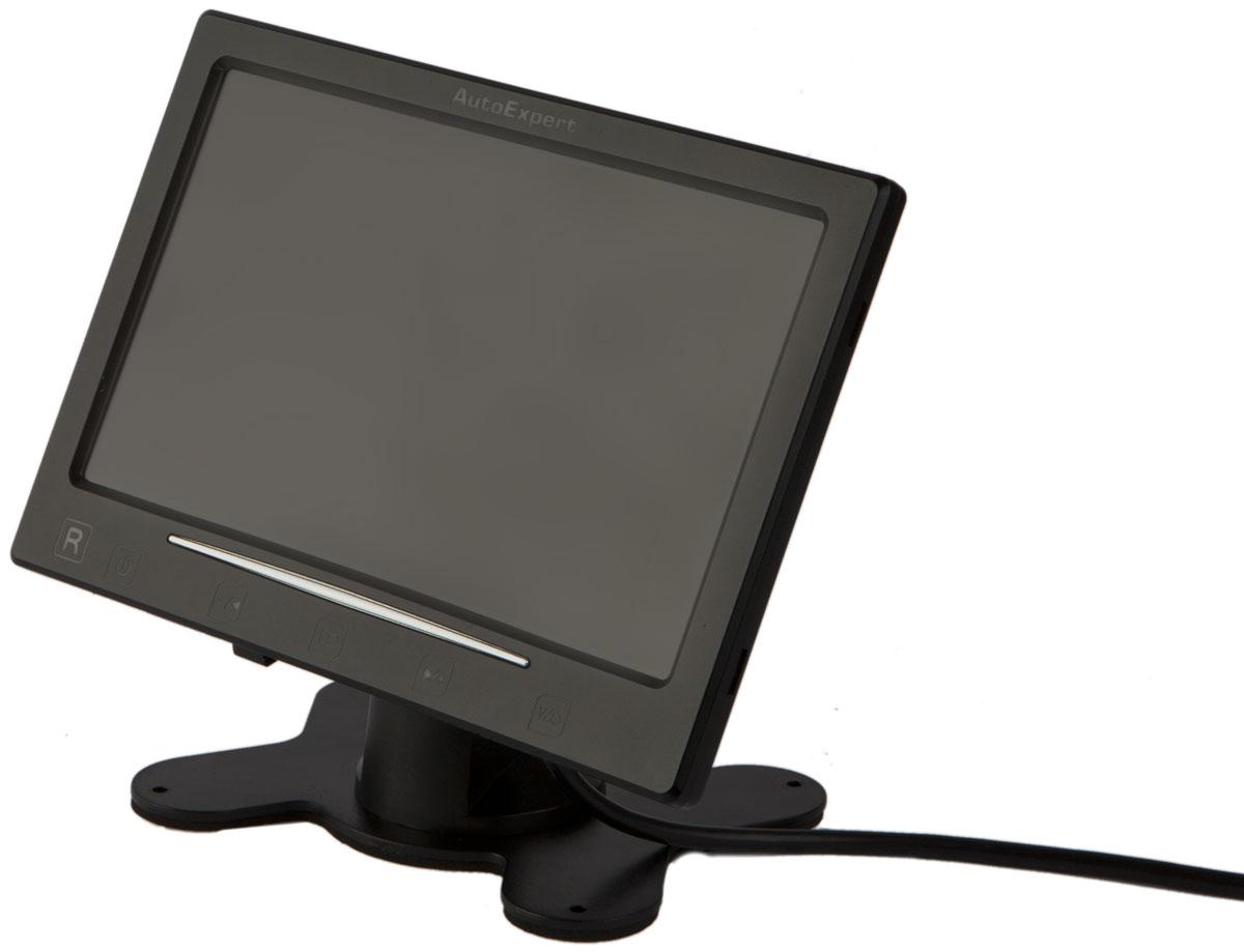 AutoExpert DV 750, Black автомобильный монитор2015050907504Монитор AutoExpert DV 750 предназначен для отображения информации с камеры заднего вида или другого источника видеосигнала. Выполнен в корпусе с универсальным креплением для установки в салоне автомобиля. Имеет 2 видеовхода с автоматическим включением монитора при появлении видеосигнала, а также оборудован динамиком и аудиовходом.Тип экрана: TFT LCDРазворот изображения по горизонтали/вертикалиПоддержка PAL-AUTO/NTSCЯркость: 350 кд/м2Контраст: 350:1