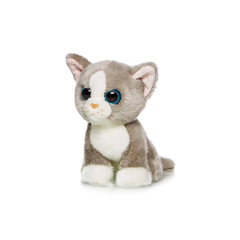 Maxi Toys Котенок цвет серый 18 см