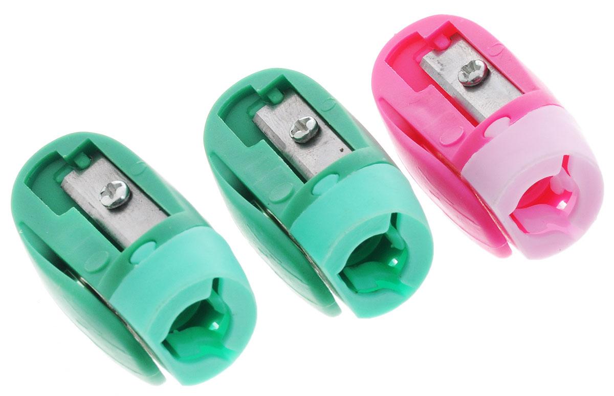 Erich Krause Набор точилок Joy цвет розовый зеленый 3 шт21826_розовый, зеленыйНабор точилок Erich Krause Joy состоит из трех одинарных точилок безконтейнера в ярком пластиковом корпусе с клипом для заточки стандартныхкарандашей диаметром до 8 мм. Каждая точилка компактная по размеру,изготовлена из неломающихся, ударопрочных материалов. Высококачественноелезвие позволит использовать такие точилки длительное время.