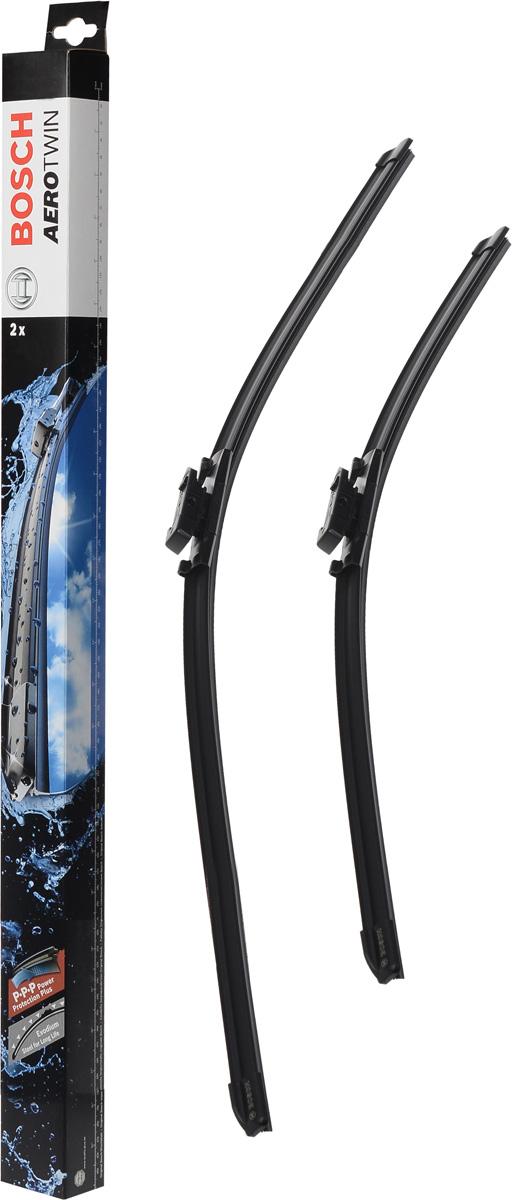 Комплект щеток стеклоочистителя Bosch Aerotwin AR503S, 500 мм/475 мм, бескаркасные, 2 шт щетки стеклоочистителя bosch aerotwin ar701s бескаркасные 650 мм 500 мм 2 шт