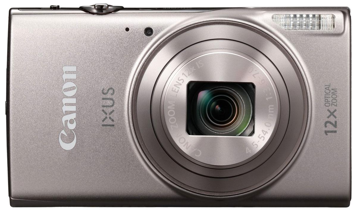 Canon IXUS 285HS, Silver цифровая фотокамера1079C001Оцените стиль и качество в карманном формате со сверхтонкой камерой IXUS с зумом 12x. С легкостью снимайте потрясающие фотографии и видео в разрешении Full HD и делитесь результатами по Wi-Fi и NFC.Компактный формат:Ультратонкую стильную камеру IXUS в металлическом корпусе можно взять с собой, куда бы вы ни направились. Она оснащена универсальным широкоугольным объективом 25 мм и оптическим зумом 12x, а также функцией ZoomPlus для увеличения 24x, поэтому вы сможете с легкостью запечатлеть любой объект на любом расстоянии - и получить фотографии и видео превосходного качества. Автозумирование позволяет выбрать оптимальное кадрирование снимка одним нажатием кнопки.Мгновенные видеоролики в формате Full HD:Снимать замечательные видеоролики просто и весело. Одно нажатие кнопки - и вы уже снимаете видео Full HD (1080p) в формате MP4. Почувствуйте свободу творчества при видеосъемке, используя оптический зум, - результат все равно поразит вас необычайной четкостью и плавностью благодаря динамическому стабилизатору изображения.Быстрое подключение:Подключайтесь к поддерживаемым мобильным устройствам одним касанием, используя Wi-Fi и NFC для простой отправки файлов. Используйте функцию синхронизации изображения для автоматического резервного копирования новых снимков в облачные сервисы и создания отличных групповых фотографий с помощью функции беспроводной дистанционной съемки с мобильного устройства. Кнопка Wi-Fi обеспечивает быстрый и простой доступ к функциям Wi-Fi.Превосходное качество:Наслаждайтесь изображениями исключительного качества и детализации даже при слабом освещении благодаря датчику изображения CMOS 20,2 МП и процессору DIGIC 4+. Интеллектуальный оптический стабилизатор изображения гарантирует четкие фотографии и плавные видеоролики в любых условиях, а большой ЖК-дисплей 7,5 см (3,0) обеспечивает простоту съемки и воспроизведения.Творчество без лишних усилий:Достаточно одного движения затвора - и функция Творч