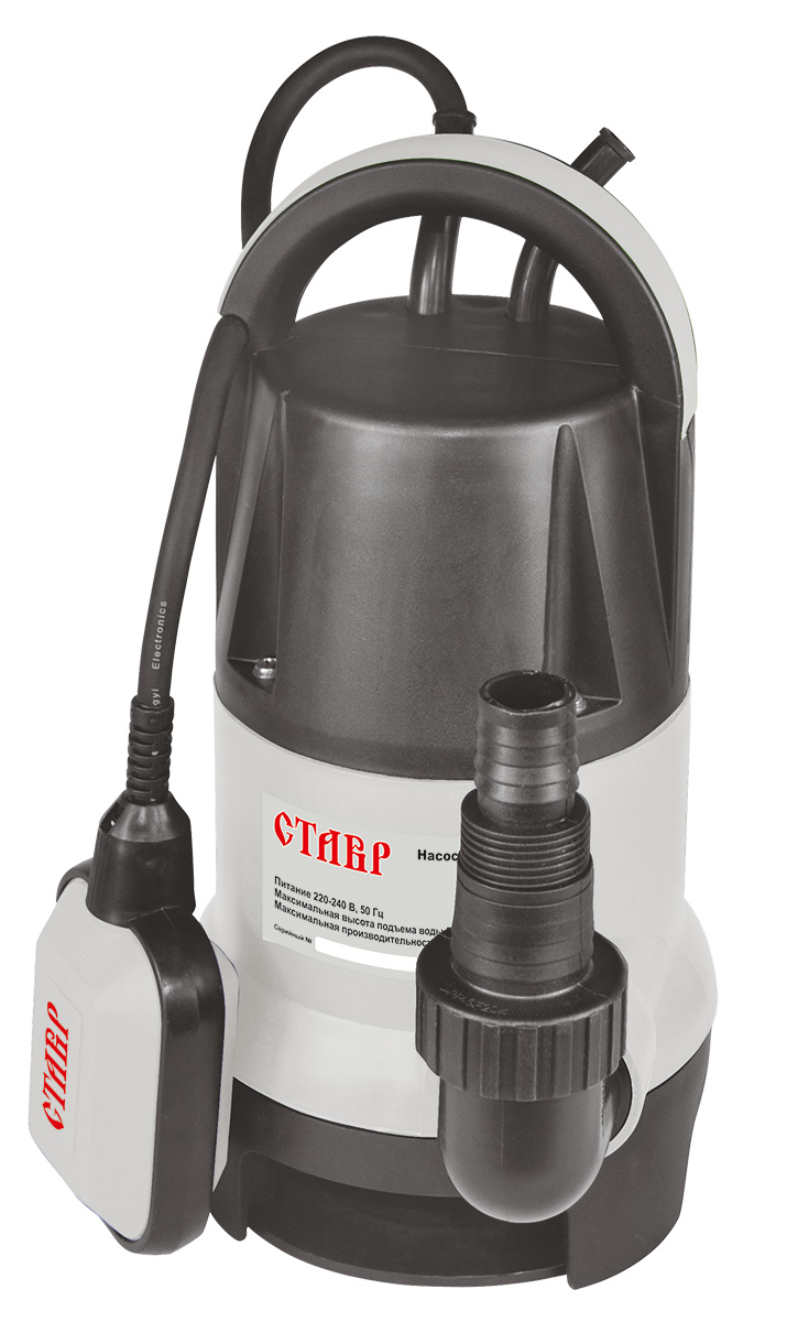 Насос погружной дренажный Ставр НПД-810ст810нпдПогружной дренажный насос Ставр НПД-810 универсален и используется для выполнения различных задач. Имеет прочный пластиковый корпус. Оснащен мощным мотором, который обеспечивает высокую производительность. Благодаря поплавку, насос работает в автоматическом режиме.Комплектация: погружной дренажный насос с поплавковым выключателем, муфта с переходником для подсоединения шлангов, инструкция.Напряжение сети: 220 В. Частота: 50 Гц. Потребляемая мощность: 810 Вт.Максимальная производительность: 192 л/мин. Напор: 8 м. Максимальное давление: 0,8 атм. Максимальная глубина погружения: 8 м. Максимальный размер пропускаемых частиц: 35 мм. Максимальная температура воды: 35°С.Диаметр выходного патрубка, дюйм(мм): 1(25)/1,25(32). Класс защиты: IPX8.Длина сетевого кабеля: 10 м.