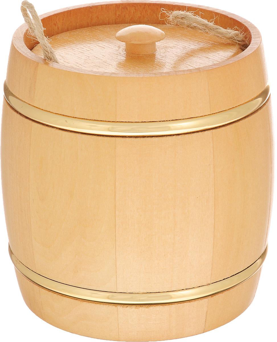 Бочонок вощенный Proffi Home, диаметр 9,5 см, 0,3 лPH1237Вощенный бочонок Proffi Home изготовлен из липы. Он прекрасно впишется своим дизайном в интерьер. Липовый бочонок является одним из лучших среди бондарных изделий для хранения продуктов, в особенности меда. Вы можете быть уверенными, что в такой емкости содержимое не теряет свой аромат и вкусовые качества. Главное достоинство в том, что все полезные свойства продуктов остаются в сохранности. Эксплуатация бондарных изделий.Перед первым использованием бондарное изделие рекомендуется подготовить. Для этого нужно наполнить изделие холодной водой и оставить наполненным на 2-3 часа. Затем необходимо воду слить, обдать изделие сначала горячей, потом холодной водой. Не рекомендуется оставлять бондарные изделия около нагревательных приборов, а также под длительным воздействием прямых солнечных лучей.С момента начала использования бондарного изделия не рекомендуется оставлять его без воды на срок более 1 недели. Но и продолжительное время хранить в таких изделиях воду тоже не следует.После каждого использования необходимо вымыть и ошпарить изделие кипятком. В качестве моющих средств желательно использовать пищевую соду либо раствор горчичного порошка.Правильное обращение с бондарными изделиями позволит надолго сохранить их эксплуатационные свойства и продлить срок использования! Объем бочонка: 0,3 л. Высота бочонка: 11 см. Диаметр бочонка (по верхнему краю): 9,5 см.