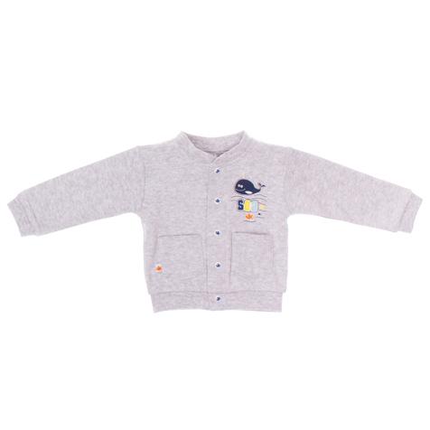 Кофточка для мальчика PlayToday Baby, цвет: серый меланж. 167802. Размер 56, от 0 месяцев