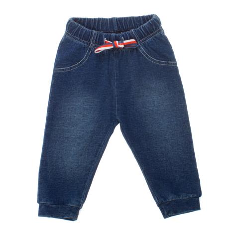 Брюки для мальчика PlayToday Baby, цвет: темно-синий. 167805. Размер 56, от 0 месяцев167805Стильные брюки для мальчика PlayToday Baby идеально подойдут вашему малышу и станут отличным дополнением к детскому гардеробу. Изготовленные из натурального хлопка, они необычайно мягкие и приятные на ощупь, не сковывают движения и позволяют коже дышать, не раздражают нежную кожу ребенка, обеспечивая ему наибольший комфорт.Брюки, стилизованные под джинсы, на талии имеют широкую эластичную резинку с контрастным затягивающимся шнурком, благодаря чему они не сдавливают животик ребенка и не сползают. Спереди модель оформлена имитацией втачных карманов . Снизу брючины дополнены манжетами.В таких брюках ваш маленький модник будет чувствовать себя комфортно, уютно и всегда будет в центре внимания!