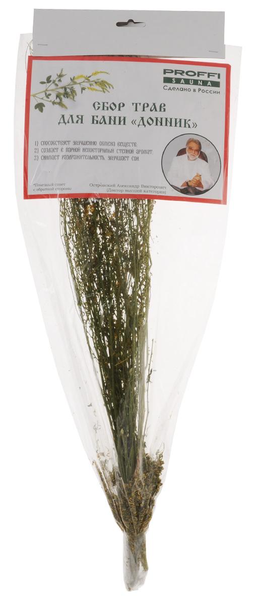 Сбор трав для бани Proffi ДонникPS0301Сбор трав для бани Proffi Донник способствует улучшению обмена веществ,создает в парной неповторимый степной аромат, снимает раздражительность иулучшает сон. Дляприменения залить высушенный веник 0,5 лтеплой воды, дать настояться 15 минут. Полученный состав плеснутьна раскаленные камни. Товар сертифицирован.