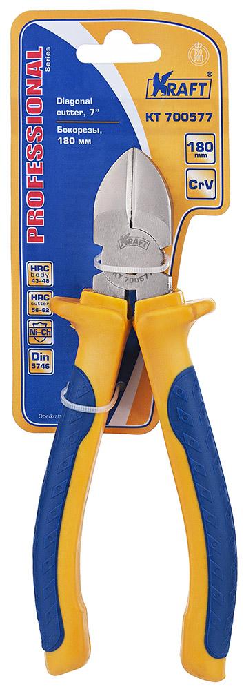 Бокорезы Kraft 180 мм КТ 700577КТ 700577- Cr-V, двухкомпонентная рукоятка