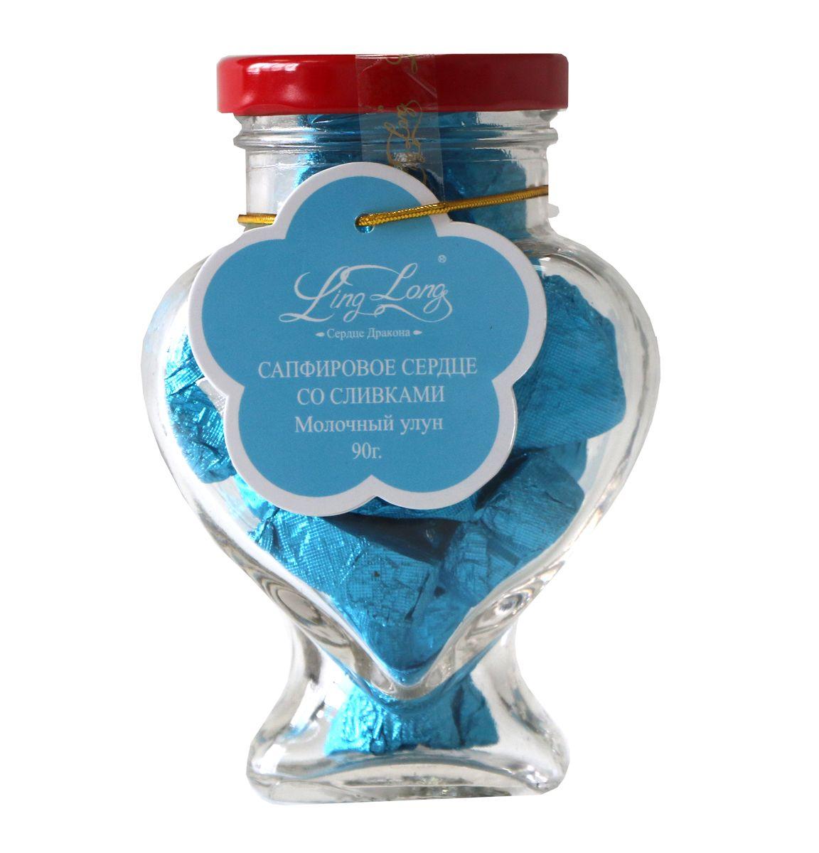 Ling Long Сапфировое сердце со сливками листовой чай, 90 г (стеклянная банка)
