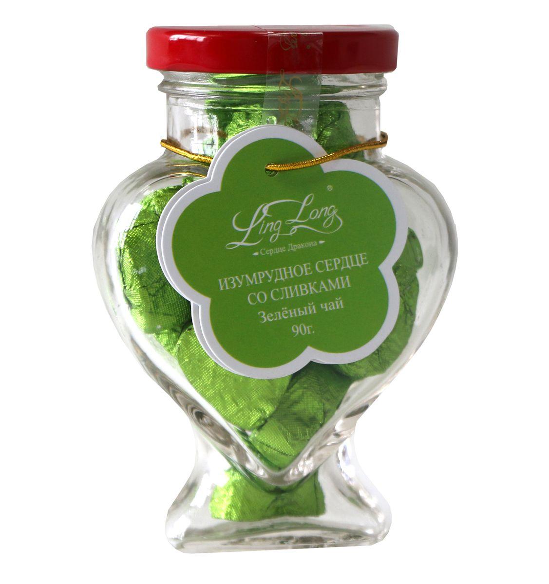 Ling Long Изумрудное сердце со сливками зеленый листовой чай, 90 г (стеклянная банка)LL502Чай зеленый байховый китайский крупнолистовой Ling Long Изумрудное сердце с ароматом сливок. Спрессован в форме сердечек. Такой чай станет отличным подарком друзьям или близким.Всё о чае: сорта, факты, советы по выбору и употреблению. Статья OZON Гид