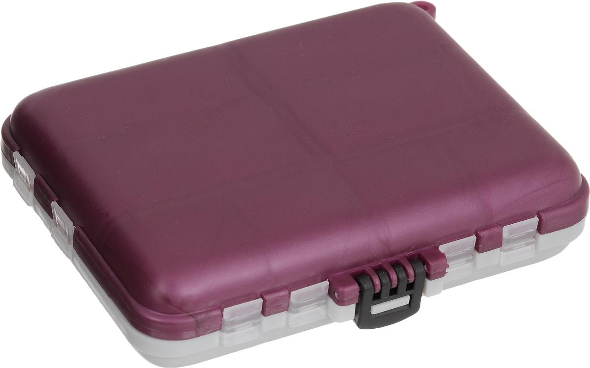 Органайзер для мелочей, двухсторонний, цвет: серый, бордовый, 12 х 10 х 3 см