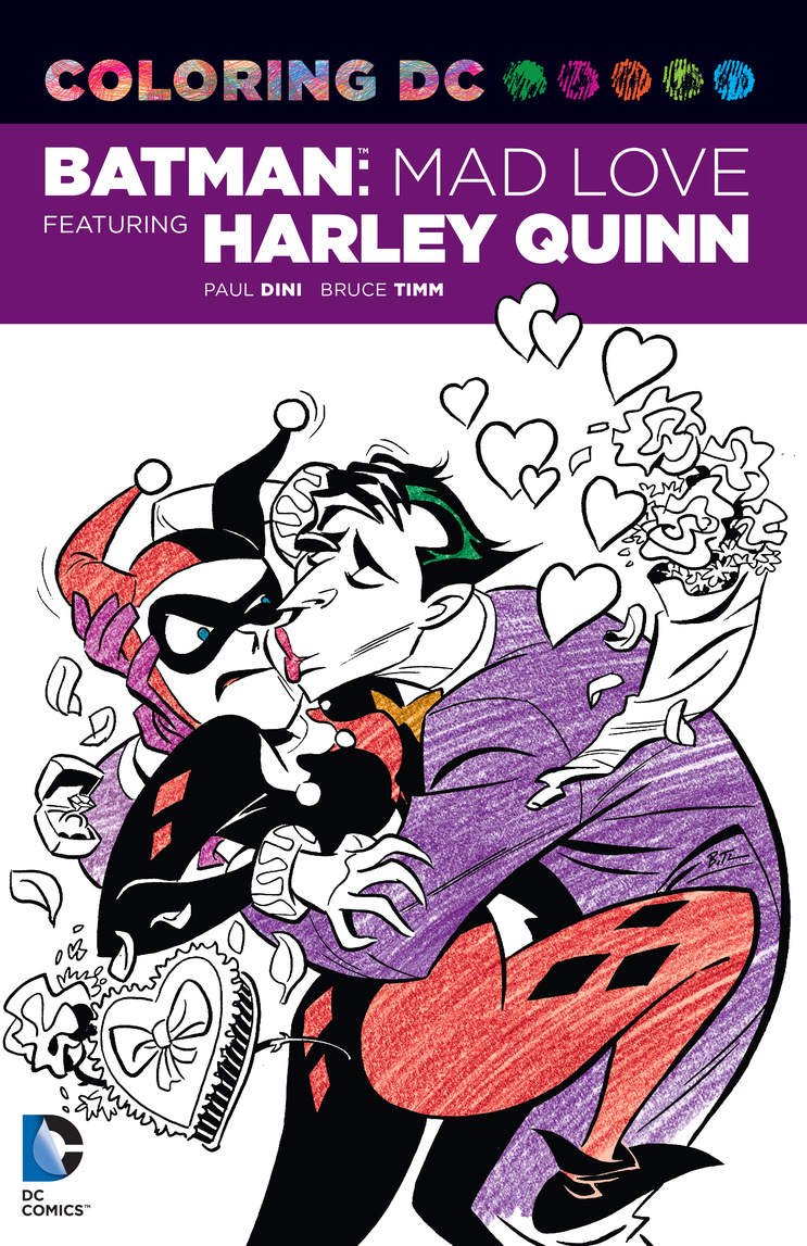 Batman: Mad Love Featuring Harley Quinn: Coloring Book the little book of batman