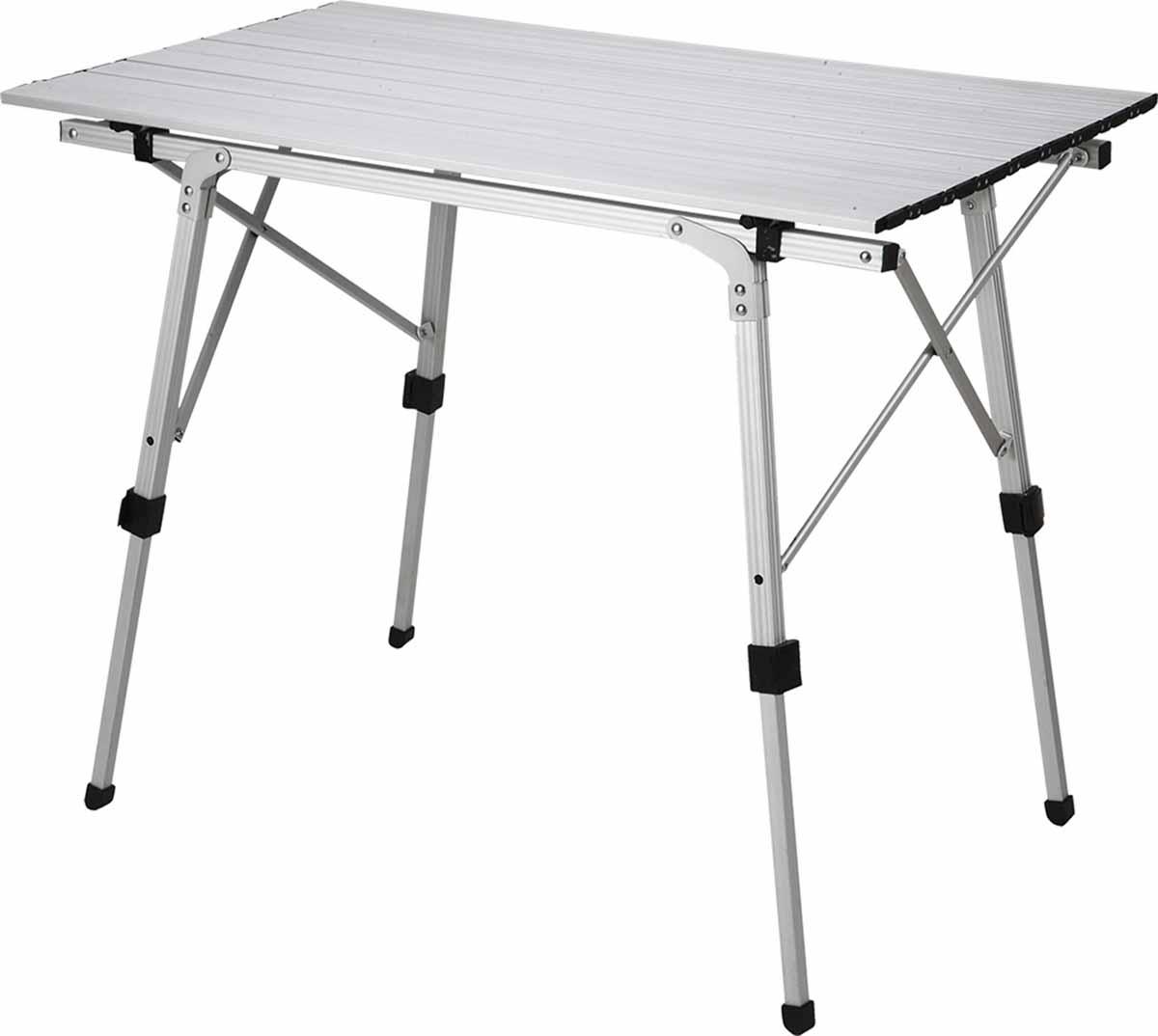 Стол кемпинговый складной Сплав ТС-9039699Легкий и компактный стол для отдыха на природе Ножки регулируются по высоте. Можно компенсировать неровность поверхности, а можно опустить стол на высоту до 45 см Каркас и столешница выполнены из алюминиевого сплава Столешница скручивается в рулон Несмотря на то, что в самой идее кемпинговой мебели заложены сочетание легкости, компактности и прочности, долгое время кемпинговые столы были привилегией автотуристов, дачников и любителей пикников под окнами собственных квартир. А теперь, знакомьтесь! Стол кемпинговый складной TC-90! Тубус, в который убирается стол для транспортировки, занимая совсем не много места (12?17?90 см), весит 4 кг. Его можно взять с собой в небольшое путешествие пешком, на велосипедах и совсем уж без напряжения разместить на палубе катамарана или багажнике квадроцикла. Благодаря тому, что стол целиком выполнен из алюминиевого сплава, он устойчив к погодным катаклизмам и перевозке. Отдельного внимания заслуживают ножки стола, которые регулируются по высоте. Это существенно снижает требование к поверхности, на которую стол будет устанавливаться. Кроме того, стол можно опустить на высоту до 45 см, что может быть удобно под тентом или при отсутствии стульев. Но главное, что теперь уже никто не сможет наступить в темноте в вашу миску. Размер столешницы: 52?90 см Высота: 45-70 см Размеры в сложенном виде: 12?17?90 см Вес: 4,1 кг Максимальная распределенная нагрузка на столешницу 30 кг