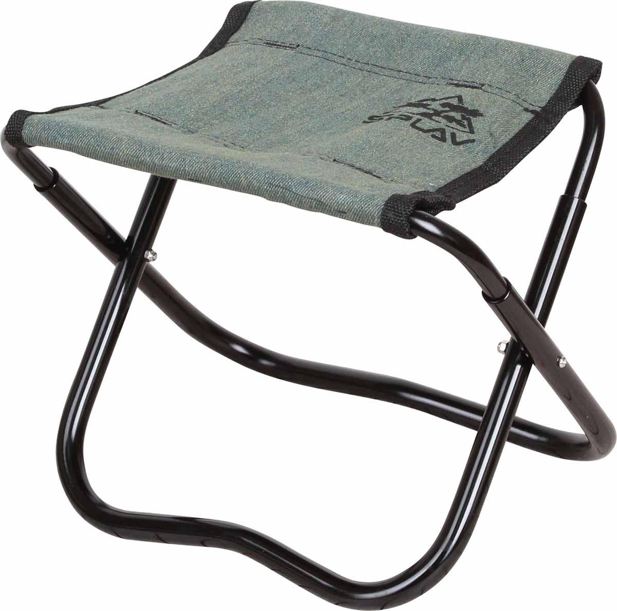 Стул складной Сплав Fix, цвет: черный, зеленый5115040Стул складной Сплав Fix - это незаменимый предмет походной мебели, очень удобен в эксплуатации. Каркас изготовлен из прочного и долговечного алюминия, устойчивого к погодным условиям. Материал ткани сидения 100% хлопок. Стул легко собирается и разбирается и не занимает много места, поэтому подходит для транспортировки и хранения дома. Складной табурет прекрасно подойдет для комфортного отдыха на даче или в походе.Вес: 244 г.Максимальная нагрузка: 95 кг.Размер: 18 х 23 х 20 см.