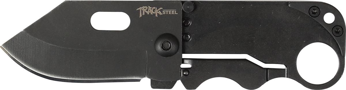 Нож складной Track Steel B210-205542102Складной нож для ежедневного ношения (EDC) Длина клинка: 51 ммТолщина клинка: 1,4 ммОбщая длина ножа: 118 ммМатериал клинка: сталь 440AРукоять: сталь