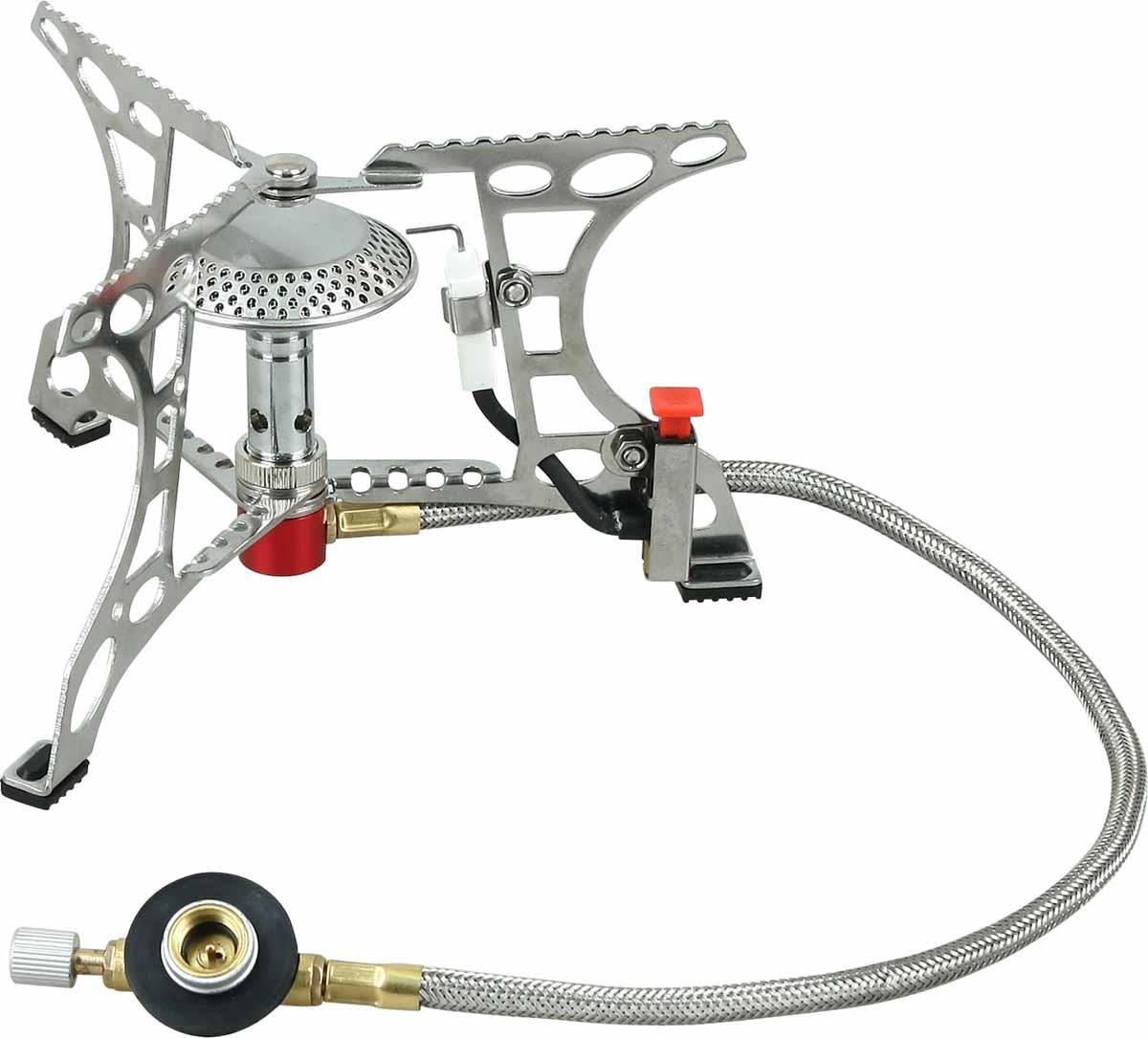 Горелка газовая Track Quick, с пьезоподжигом газовая горелка kovea ткв 9703 1l со шлангом