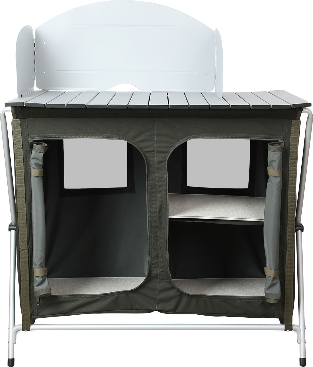 Стол складной Сплав TR - 94, кухонный5060936Стол складной Сплав TR - 94 - это незаменимый предмет походной мебели, очень удобен в эксплуатации. Складной стол выполнен из алюминия и пластика. Два внутренних отсека для хранения посуды и еды, выполненные из полиэстера, закрываются на молнию. На задней стенке имеется окно из сетки для вентиляции. В комплект входят промежуточные полки из МДФ, ветрозащитный экран и удобный чехол для переноски. Стол легко собирается и разбирается, не занимает много места, поэтому подходит для транспортировки и хранения дома. Складной стол прекрасно подойдет для комфортного отдыха на даче или в походе.Вес стола: 7,4 кг.Максимальная нагрузка: 30 кг.Размер в собранном виде: 87 х 50 х 80 см.Размер в упаковке: 90 х 50 х 10 см.Каркас выполнен из алюминиевой трубы диаметром 19 мм.Столешница выполнена из алюминиевых планок размером 55 х 11 мм.