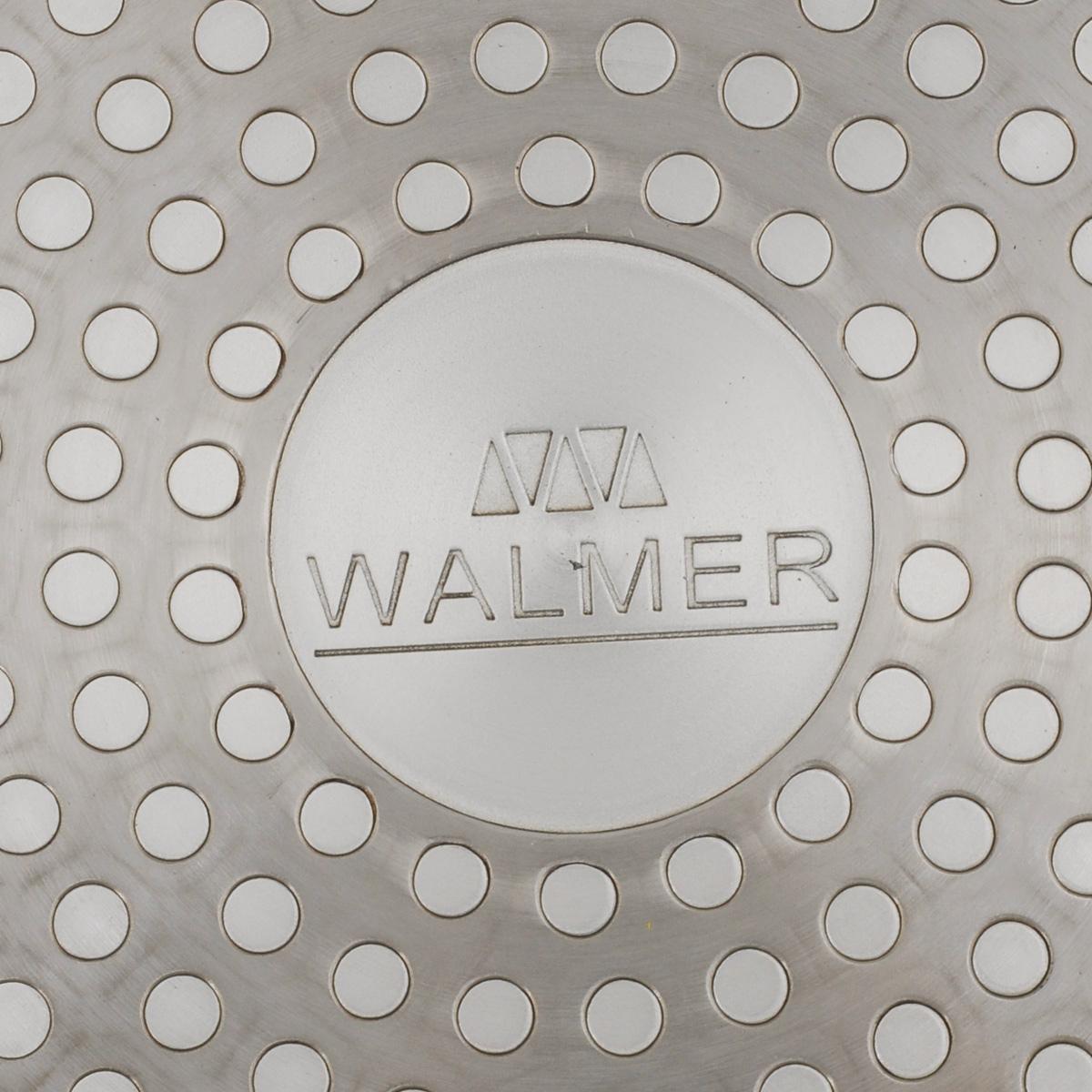 """Сковорода Walmer """"Rainbow"""", изготовленная из кованого алюминия, имеет утолщенное дно и стенки. Антипригарное покрытие обеспечивает быстрый и равномерный нагрев. Кроме того, с таким покрытием пища не пригорает и не прилипает к стенкам, поэтому можно готовить с минимальным добавлением масла и жиров. Сковорода с антипригарным покрытием Walmer """"Rainbow"""" имеет еще одно преимущество- эргономичную форму ручки, которая обеспечивает максимальное удобство использования. Ее термоизолированная поверхность гарантирует, что даже при сильном нагреве ручка не изменит своей температуры.Внешнее покрытие сковороды очень прочное, обладает высокой термостойкостью и не меняет цвет при нагреве, легко моется. Стоит помнить о том, что антипригарное дно сковороды наилучшим образом подходит для лопаток из дерева, пластика и силикона. Металлические ложки и лопатки могут повредить целостность покрытия.Подходит для всех типов плит, включая индукционные.Диаметр: 20 см.Диаметр дна: 15 см. Высота стенки: 4,5 см. Толщина стенки: 4 мм.Толщина дна: 3 мм.Длина ручки: 17 см."""