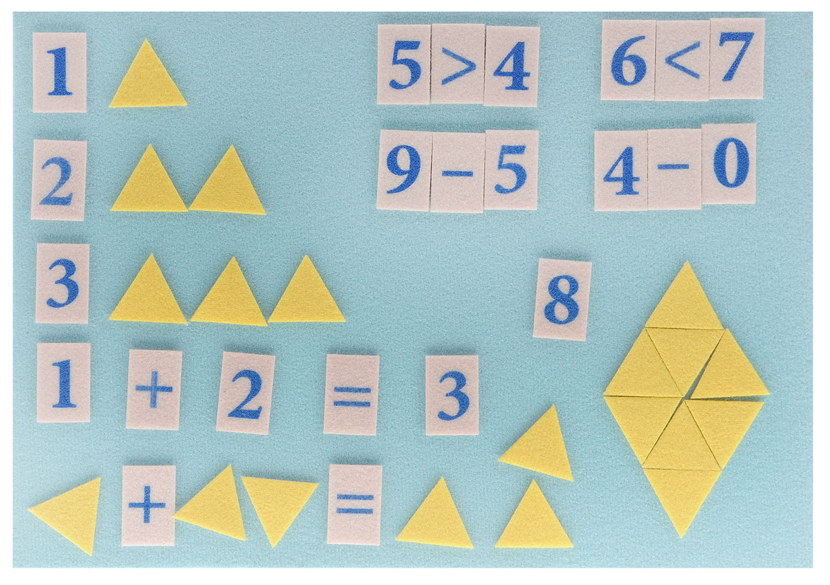 Stigis Игра на липучках Стигисы Мозаика математическая цвет желтый