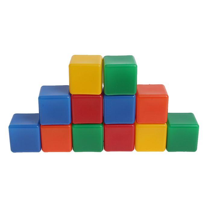Крошка Я Кубики цветные 12 шт 1180367
