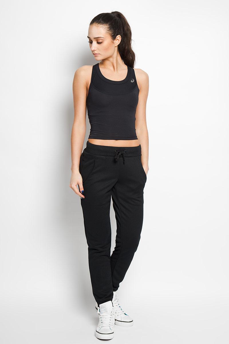 Топ-бра для бега женский Asics Layering Top, цвет: черный. 129952-0904. Размер XS (42)