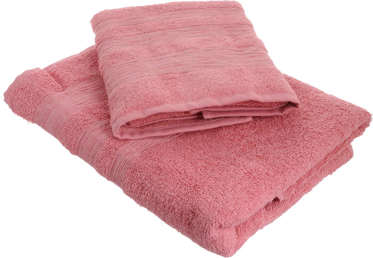 Набор махровых полотенец Унисон Caprice, цвет: розовый, 2 шт290142Набор Унисон Caprice состоит из двух махровых полотенец разного размера, выполненных изнатурального 100% хлопка. Изделия отлично впитывают влагу, быстро сохнут, сохраняют яркостьцвета и не теряют формы даже после многократных стирок.Торговая марка Унисон соединяет в своих изделиях достойный уровень качества, новейшие дизайнерские технологии и заботу о наиболее комфортном отдыхе. Рекомендации по уходу: - Махровые полотенца следует стирать при температуре 40 градусов;- Сушить при низкой и средней температуре; - Не использовать отбеливатели.Размеры полотенец: 50 х 90 см, 70 х 140 см.