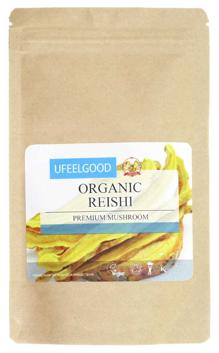 UFEELGOOD Organic Reishi Premium Mushroom Powder органический гриб рейши молотый, 100 г ufeelgood organic hemp premium seeds конопляные семена очищенные 150 г