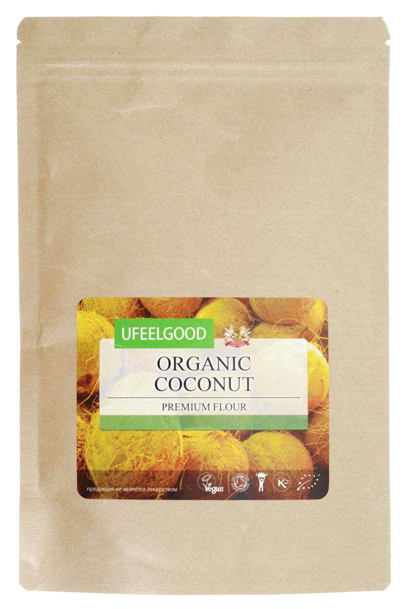 UFEELGOOD Organic Coconut Premium Flour органическая кокосовая мука, 200 г ufeelgood organic black sesame seeds органический черный кунжут 200 г