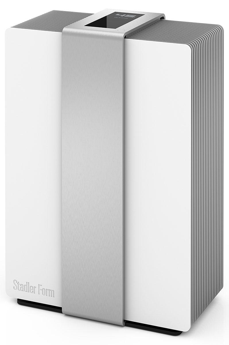 Stadler Form Robert R-002, Silver мойка воздуха802322006032Мойка воздуха Stadler Form Robert R-002 обеспечивает рекордную производительность — увлажнение воздуха в комнате до 80 квадратных метров. При такой высокой мощность увлажнитель потребляет самое минимальное количество электроэнергии — всего 8 Вт!Корпус увлажнителя имеет уникальное алюминиевое покрытие. А сенсорная панель управления интегрирована в массивный вертикальный пояс из алюминия толщиной 4 мм.Stadler Form Robert R-002 - это первый увлажнитель, дисплей которого оживает при поднесении руки. Это совершенно уникальная концепция умной бытовой техники, которая позволяет гармонично вписать прибор практически в любой интерьер. В остальное время Robert показывает текущую влажность воздуха в доме (встроенный гигростат), что также очень удобно, так как многие мойки воздуха лишены данной функции.При эксплуатации увлажнителя вы можете не беспокоится за качество используемой воды. Так как увлажнитель Robert имеет фильтр с ионами серебра, который уничтожает все болезнетворные микроорганизмы — бактерии и вирусы.Функции самоочистки и ароматерапииСенсорный дисплей 5,32 дюйма с датчиком движения4 режима мощностиДатчик загрязненияУказатель уровня воды