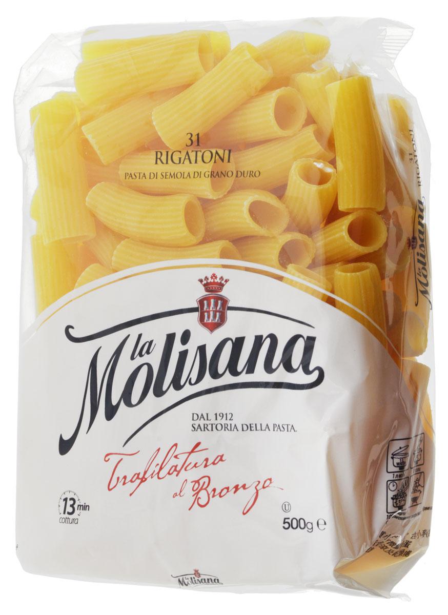 La Molisana Rigatoni трубки рифленые, 500 г pasta zara клубки тонкие тальолини макароны 500 г
