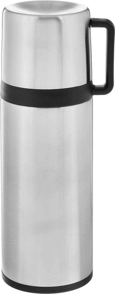 Термос Tescoma Constant, с крышкой-кружкой, цвет: серебристый, черный, 300 мл318520Термос Tescoma Constant предназначен для хранения теплых и холодных напитков на длительное время. Изделие изготовлено из пластика и высококачественной нержавеющей стали с двойной колбой. Пробка плотно закручивается, а благодаря вакуумной кнопке внутри создается абсолютная герметичность, что предотвращает проливание напитков. Термос оснащен завинчивающейся крышкой, которая может выполнять функцию кружки с ручкой. Нельзя мыть в посудомоечной машине.Диаметр горлышка по верхнему краю: 4,5 см. Диаметр основания: 7 см. Высота термоса: 21 см. Диаметр чашки по верхнему краю: 5,5 см. Высота стенки чашки: 6,5 см. Объем крышки-кружки: 150 мл.