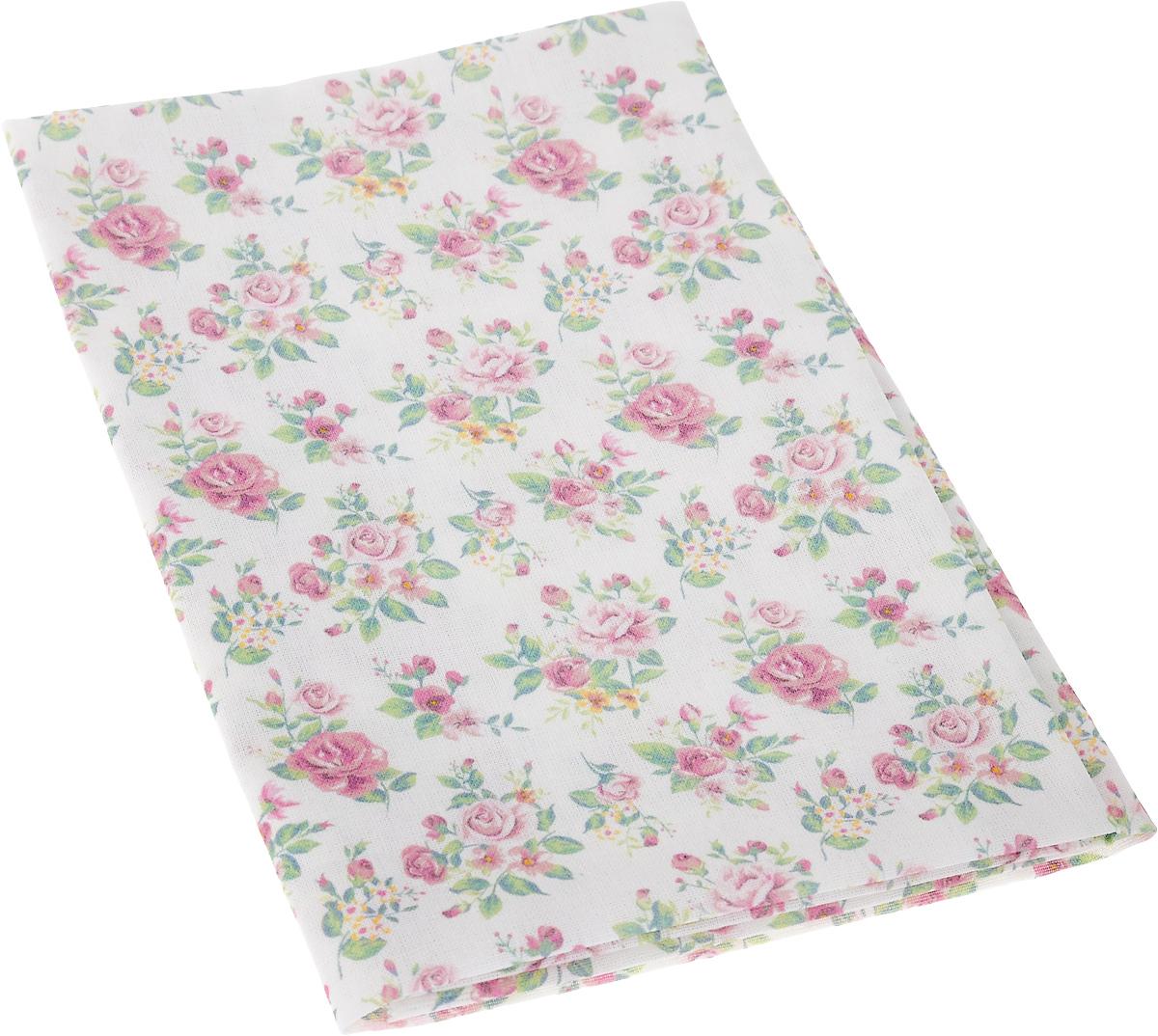 """Ткань Артмикс """"Нежные розы шебби"""",  изготовленная из 100% хлопка, предназначена для  пошива одеял, покрывал, сумок, аппликаций и  прочих изделий в технике пэчворк. Также подходит  для пошива кукол,  аксессуаров и одежды.   Пэчворк - это вид рукоделия, при котором по  принципу мозаики сшивается  цельное изделие из кусочков ткани (лоскутков).   Плотность ткани: 120 г/м2.  УВАЖАЕМЫЕ КЛИЕНТЫ! Обращаем ваше внимание, на тот факт, что размер  отреза может отличаться на 1-2 см."""